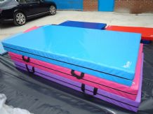 "8FT x 4FT 6"" x 8"" THICK (610gsm) Safety Matress Crash Mat (AQUA BLUE)"